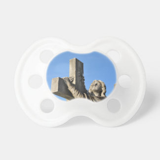 Angel and cross pacifier