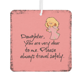 Angel and Daughter Quote Car Air Freshener