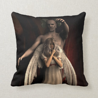 Angel and Demon Throw Pillow