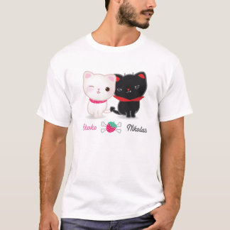 Angel and Devil Cats Basic Tee