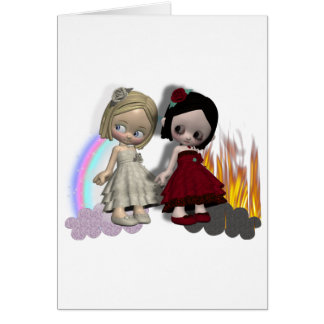 angel and devil cutie girls card