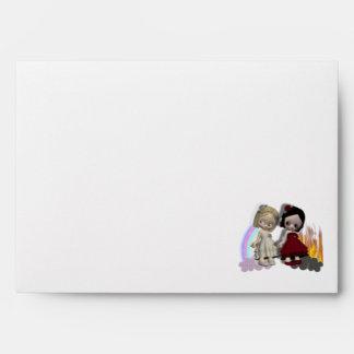 angel and devil cutie girls envelope