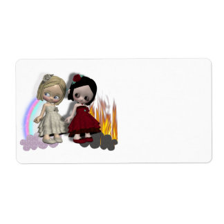 angel and devil cutie girls label