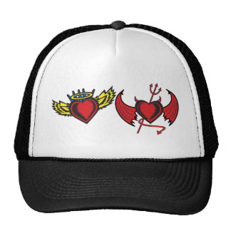 Angel and Devil Hearts Trucker Hat