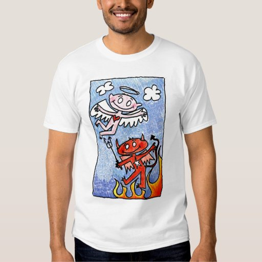 Angel and Devil - Heavan and Hell T-shirt