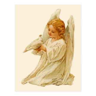 Angel and Dove – Easter Postcard