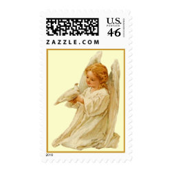 Angel and Dove - Postage stamp