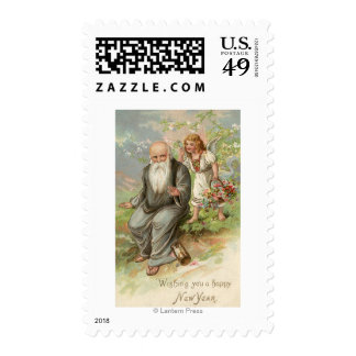 Angel and Father Time # 1 Stamp