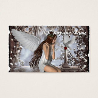 Angel and Her Dove Business Card