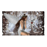 Angel and Her Dove Business Card Templates