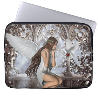 Angel and Her Dove Computer Sleeves