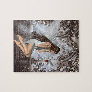 Angel and Her Dove Jigsaw Puzzle