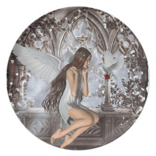 Angel and Her Dove Party Plates