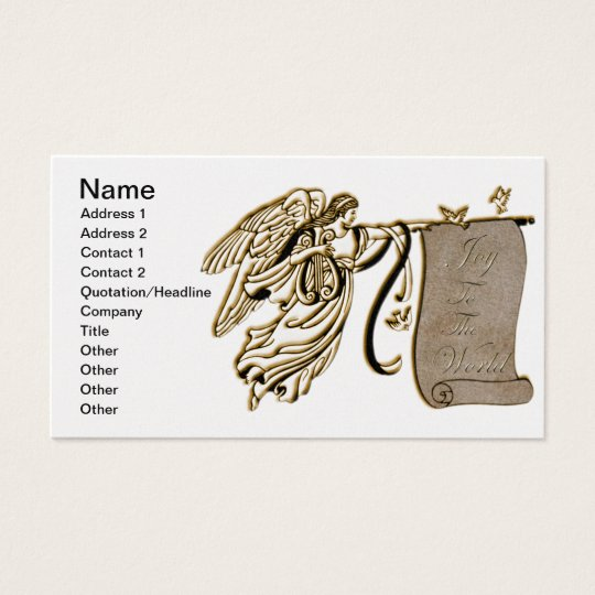 Angel and Joy to the World Scroll Business Card