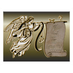Angel and Joy to the World Scroll Print