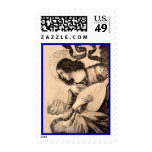 Angel and Lute Religious Postage
