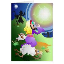 Angel and Shepherds Card