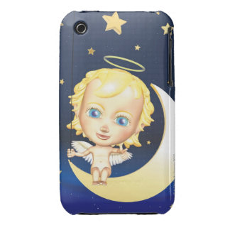 Angel and Stars, CG, 3D, Illustration, Front iPhone 3 Cover