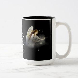 angel and stars mug