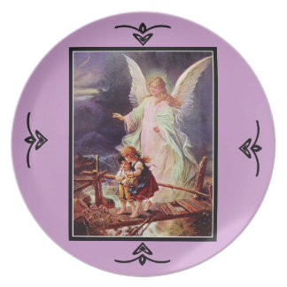 Angel and the Children by Schutze decorative plate