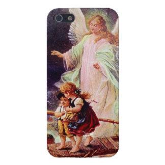 Angel and the Children by Schutzengel iPhone SE/5/5s Case