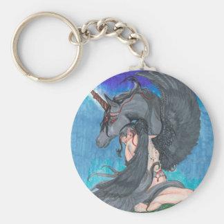 Angel and Unicorn Key Chain
