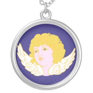 Ángel angel collar plateado