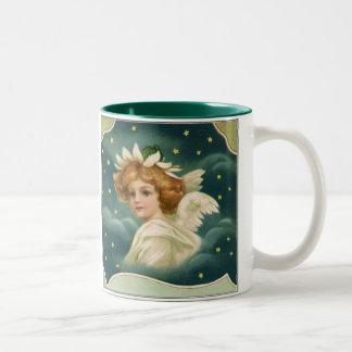 Ángel angelical del navidad del Victorian del vint Taza De Café
