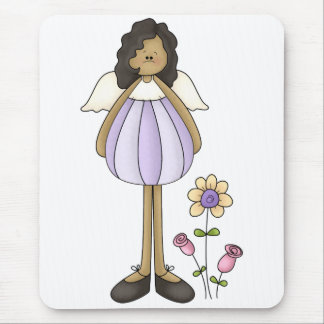 Angel Antics · Angel · Purple Mouse Pad