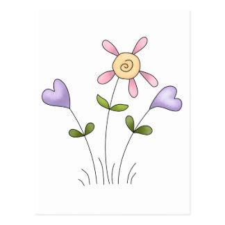 Angel Antics · Flower Hearts · Purple Postcard
