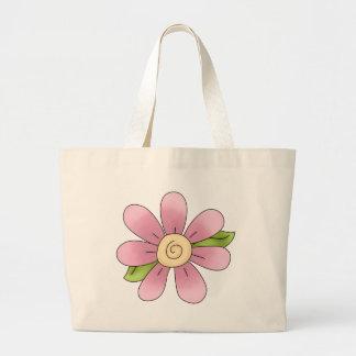 Angel Antics · Flower · Pink Tote Bag
