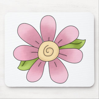 Angel Antics · Flower · Pink Mouse Pad