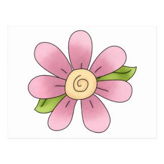 Angel Antics · Flower · Pink Postcard