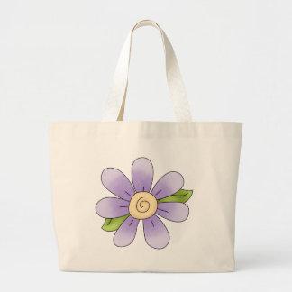 Angel Antics · Flower · Purple Tote Bags