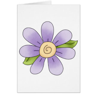 Angel Antics · Flower · Purple Card