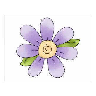 Angel Antics · Flower · Purple Postcard