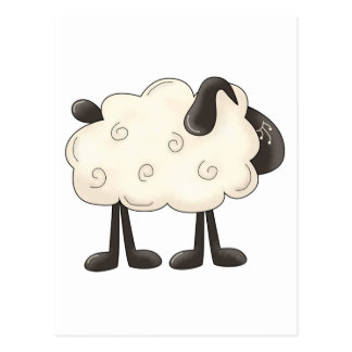 Angel Antics · Sheep Postcard