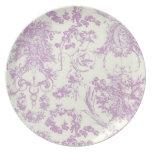 Ángel antiguo Plate_Pink Platos De Comidas
