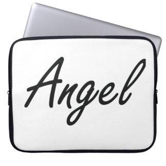 Angel artistic Name Design Laptop Sleeves