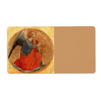 Angel at Annunciation Label