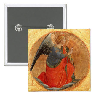 Angel at Annunciation Pinback Button
