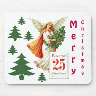 Angel at Christmas Mouse Pad
