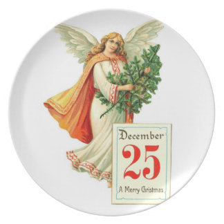 Angel at Christmas time Plate