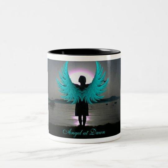 Angel at Dawn Two-Tone Coffee Mug