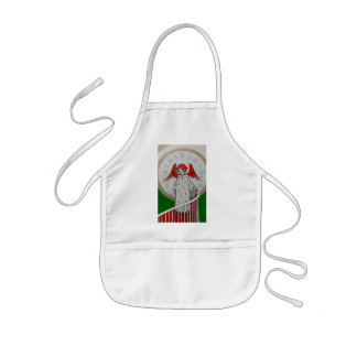 Angel at the Top of the Stairs Kids' Apron