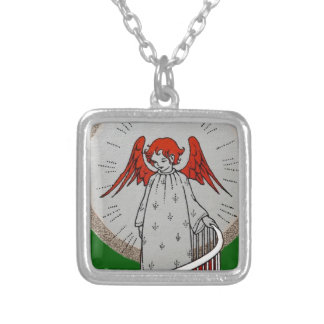 Angel at the Top of the Stairs Silver Plated Necklace