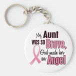 Angel AUNT Breast Cancer T-Shirts & Apparel Key Chain