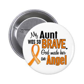 Angel Aunt Leukemia 2 Inch Round Button