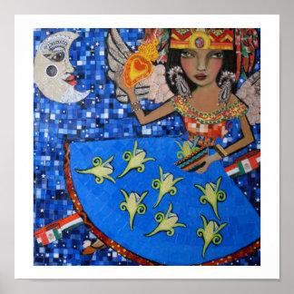 ángel azteca póster