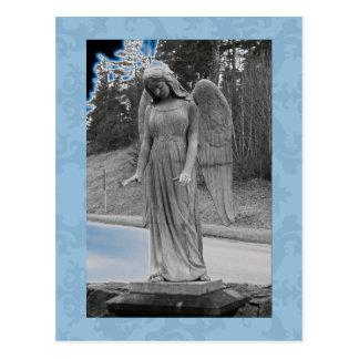 Ángel azul 17 postal